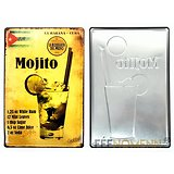 PLAQUE METAL MOJITO RELIEF/DRINK CUBA
