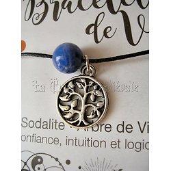 BRACELET DE VIE SODALITE/ARBRE DE VIE