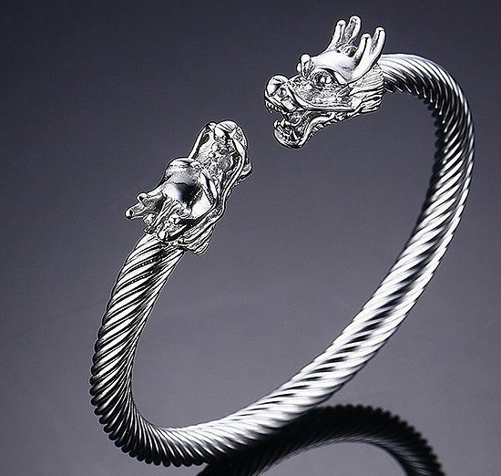 BRACELET TORQUE VIKING DRAGONS