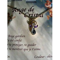 PENDENTIF ANGE GARDIEN CRISTAL/JUIN/ALEXANDRITE AVEC CHAINE (copy)