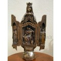 VIERGE OUVRANTE GM 28cm/STATUE TRYPTIQUE VIERGE MARIE