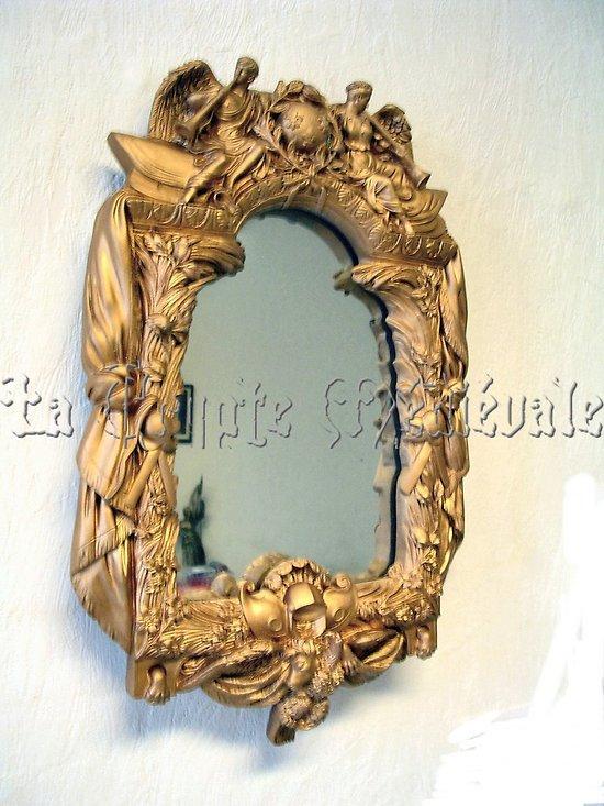 Miroir louis xiv cadre de lepautre versailles for Miroir louis xiv