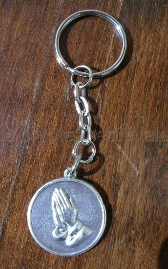 Porte clef Mains en prière/Sérénité/Chrétien