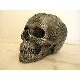 Crâne Celtique Tribal Argent/Gothique Tatoo