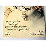 PENDENTIF ANGE GARDIEN CRISTAL/AVRIL/CRISTAL AVEC CHAINE