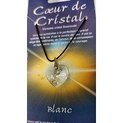 COEUR DE CRISTAL BLANC/LUMIERE INFINIE