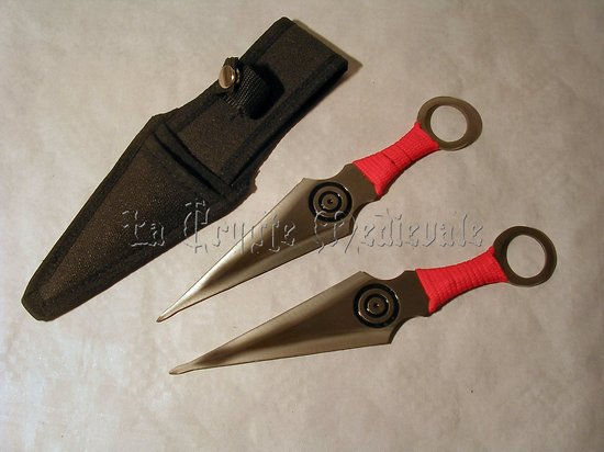 SET DE 2 KUNAI GM/STYLE NARUTO/JAPAN ANIME