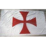 LOT DE 10 DRAPEAUX TEMPLIER/Croix Pattée/150cmX90cm