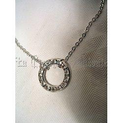 Bracelet anneau cristal Swarovski/Blanc