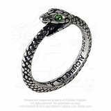 BAGUE SERPENT OUROBOROS/SNAKE/ALCHEMY GOTHIC