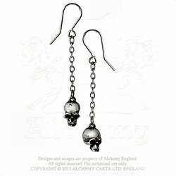 BOUCLES D OREILLES CRANES/DEADSKULLS Earrings/ALCHEMY