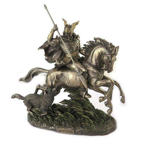 statue odin a cheval vikings mythologie nordique. Black Bedroom Furniture Sets. Home Design Ideas