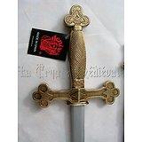 Epée Maçonique avec fourreau bleu/Templiers