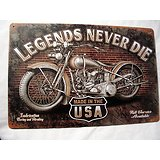 PLAQUE METAL MOTO LEGEND HARLEY/BIKERS