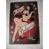 PLAQUE METAL BETTY PAGE/PIN-UP