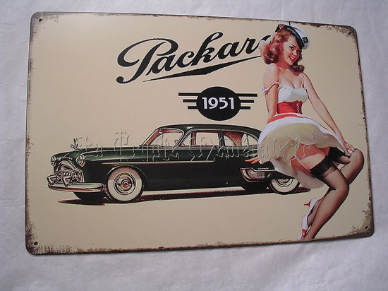 PLAQUE METAL PACKARD/VINTAGE US