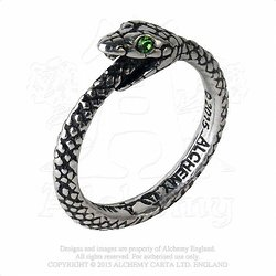 BAGUE SERPENT OUROBOROS/SNAKE/ALCHEMY GOTHIC 2