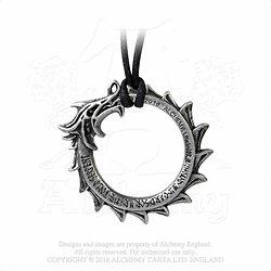Pendentif Jormungard Alchemy Gothic/Ouroboros/Mythologie Nordique