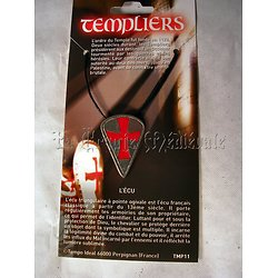PENDENTIF ECU TEMPLIER/BOUCLIER CROISADES