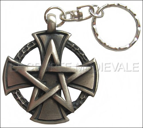 Porte Clef Templier/Pentacle/Pentagramme/Commanderie