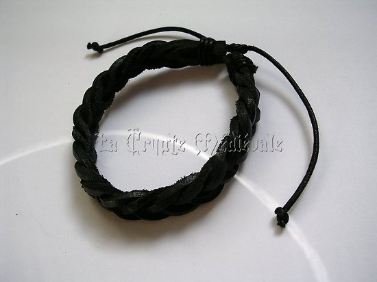 BRACELET CUIR VERITABLE/ROCK/MEDIEVAL 9707