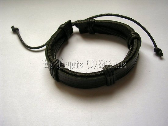 BRACELET CUIR VERITABLE/ROCK/MEDIEVAL 401