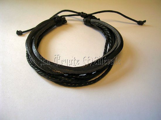 BRACELET CUIR VERITABLE/ROCK/MEDIEVAL 9739