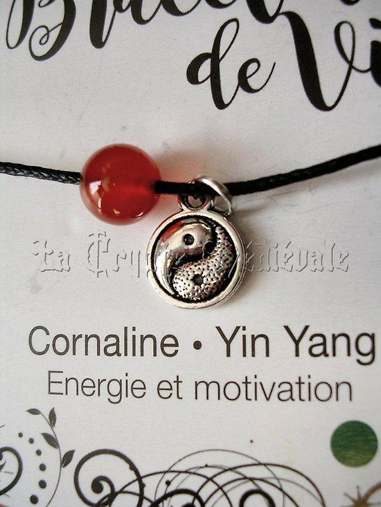 BRACELET DE VIE CORNALINE YIN YANG