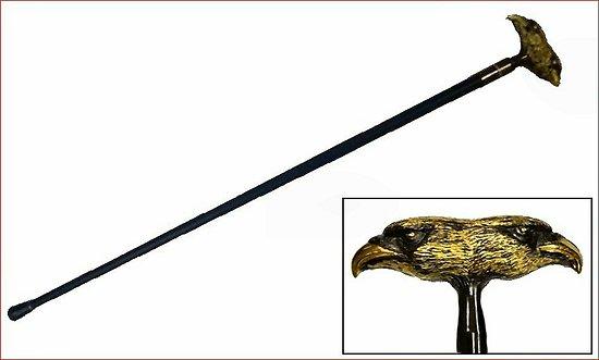 Canne épée double tête Aigle Byzantin