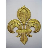 PATCH FLEUR DE LYS/ROYAUTE/MONARCHIE