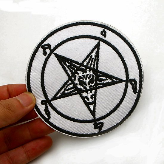 PATCH SATANIQUE BAPHOMET/PENTAGRAMME