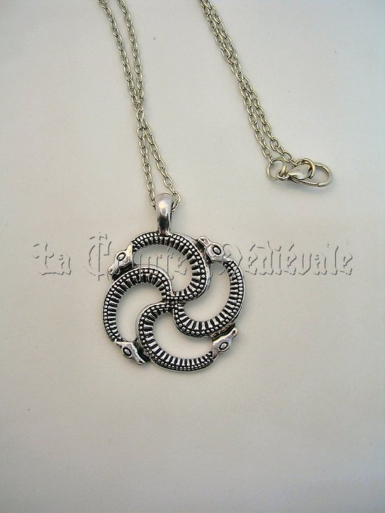 PENDENTIF VIKING SERPENTS OUROBOROS