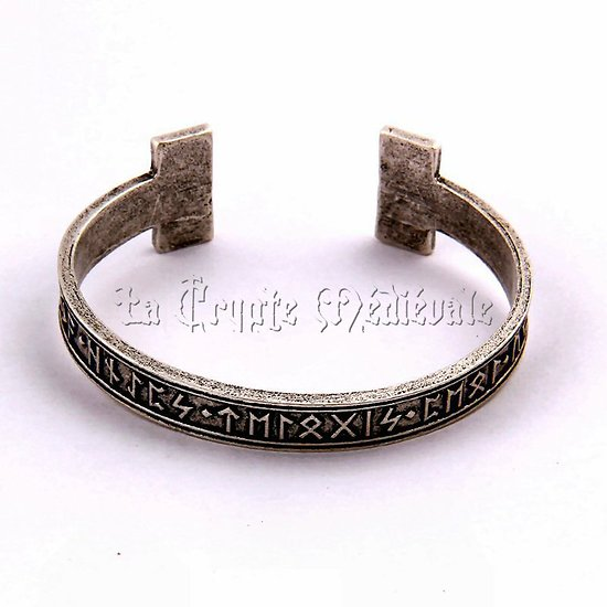BRACELET RUNIQUE VIKING/MYTHE NORDIQUE