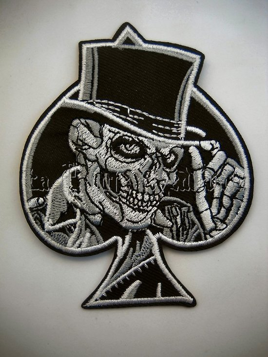 PATCH AS DE PIQUE TETE DE MORT/SKULL/BIKERS