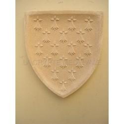 Blason/ Bretagne/Armoieries/Medieval/Chateau/HERMINES