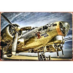 PLAQUE METAL AVION LIBERTY BELLE B17