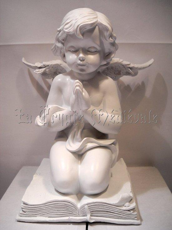 ANGE EN PRIERE SUR LIVRE/ANGELOT/CHERUBIN