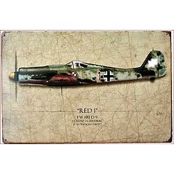 PLAQUE METAL AVION FOCKE WULF 39/45