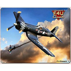 PLAQUE METAL AVION CHANCE F4U CORSAIR