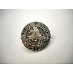 PIN'S TEMPLIER SIGILUM MILITUM XPISTI 2cm