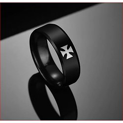 BAGUE ALLIANCE TEMPLIER BIKER CROIX PATTEE