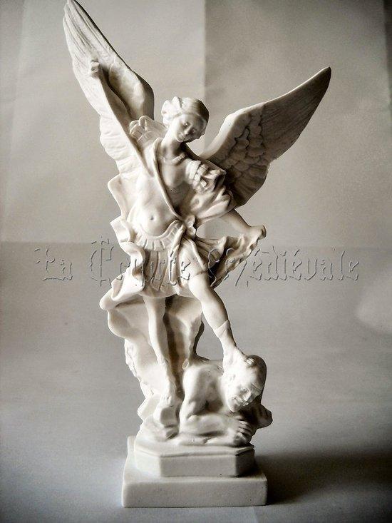 statue SAINT MICHEL ARCHANGE BLANC