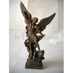 statue SAINT MICHEL ARCHANGE BRZ