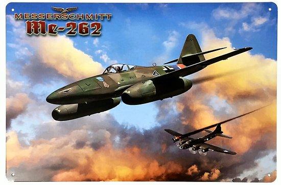 PLAQUE METAL AVION Messerschmitt Me 262 Schwalbe