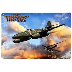 PLAQUE METAL AVION Messerschmitt Me 262 Schwalbe