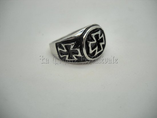 CHEVALIERE BIKER IRON CROSS/MOTARD