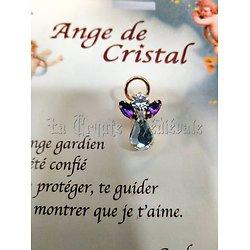 PIN'S BROCHE ANGE GARDIEN CRISTAL/FEVRIER/AMETHYSTE