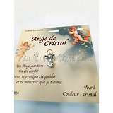 PIN'S BROCHE ANGE GARDIEN CRISTAL/AVRIL: CRISTAL