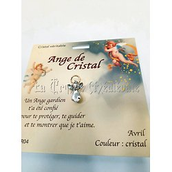 PIN'S BROCHE ANGE GARDIEN CRISTAL/AVRIL: CRISTAL