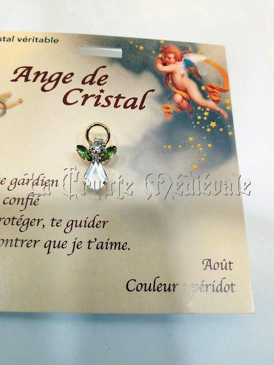 PIN'S BROCHE ANGE GARDIEN CRISTAL/AOUT PERIDOT